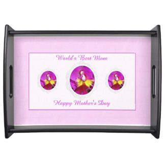 Pink Yellow Cattleya Orchid Mother's Day Tray