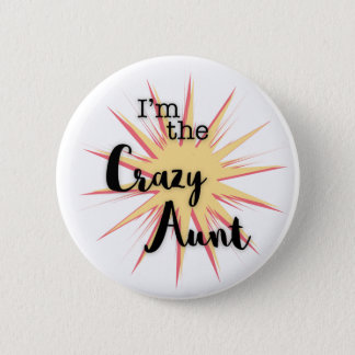 Pink Yellow Crazy Aunt Button