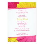 Pink Yellow Daisy Wedding Bridal Shower Invitation