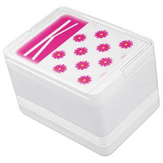 Pink & Yellow Flower Cooler