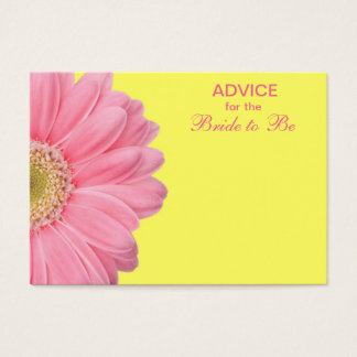 Pink & Yellow Gerber Daisy Advice for the Bride