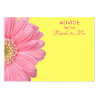 Pink Yellow Gerber Daisy Advice for the Bride Business Card Template