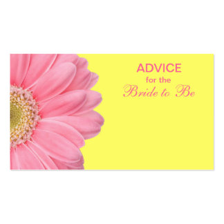 Pink & Yellow Gerber Daisy Advice for the Bride Business Cards