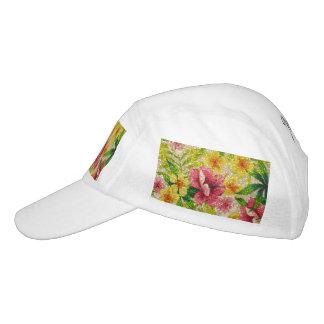 Pink & Yellow Glittery Flowers Hat
