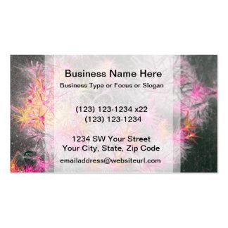 pink yellow invert beach dune plants business card template