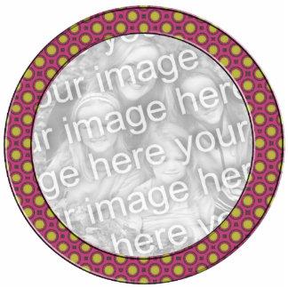 pink yellow mod dots mod photoframe photo cutout
