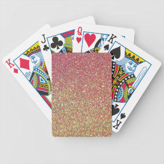 Pink Yellow Ombre Glitter Background Poker Deck
