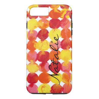 Pink Yellow Orange Red Intertactions Monogram iPhone 8 Plus/7 Plus Case