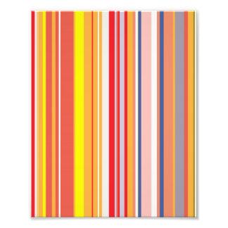 Pink, Yellow, Orange Stripes Pattern Photo Art