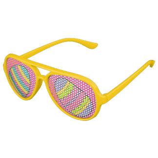 Pink Yellow Painted Easter Basket Egg Hunt Eggs Aviator Sunglasses