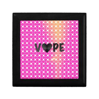 Pink Yellow Retro Vape Heart Small Square Gift Box