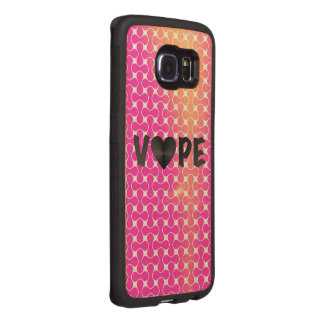 Pink Yellow Retro Vape Heart Wood Phone Case