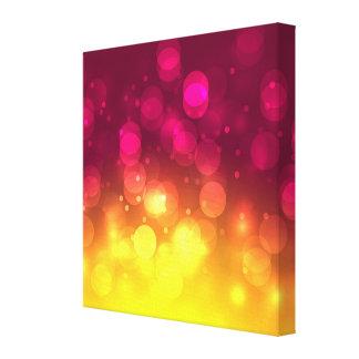 Pink & Yellow Sparkles Light Design Canvas Prints
