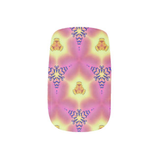 Pink Yellow Spring Coloful Bright Nail Wraps Decal