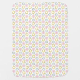 Pink & Yellow Spring Pastel Flowers Nursery Baby Blanket