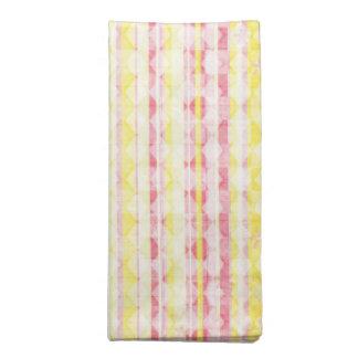 Pink & Yellow Striped Napkin