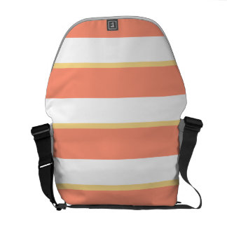 Pink Yellow Stripes Messenger Bag Outside Print