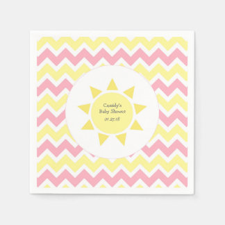 Pink Yellow You are my sunshine theme party Disposable Napkin