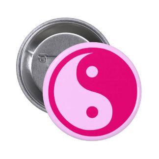 Pink Yin Yang - button
