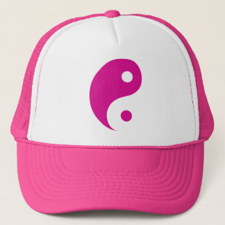 Pink Yin Yang Taoist Symbol Trucker Hat