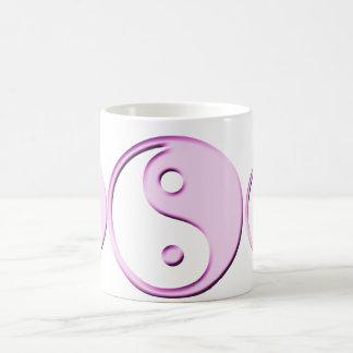 Pink Ying Yang Symbol Coffee Mug