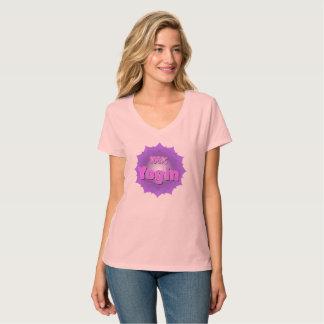 Pink Yogin Logo tshirt
