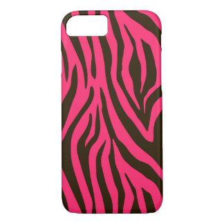 Pink Zebra Animal Print Pattern iPhone 7 Case