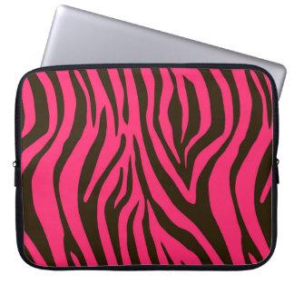 Pink Zebra Animal Print Pattern Laptop Computer Sleeve