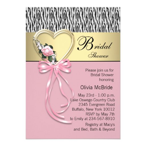 pink_zebra_black_gold_zebra_bridal_shower_invitation ...