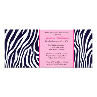 Pink Zebra Bridal Shower Invite