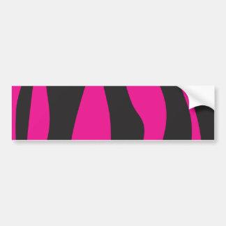 Pink zebra bumper sticker