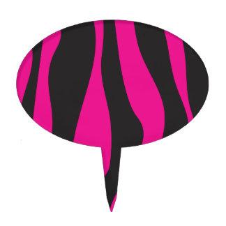 Pink zebra cake picks