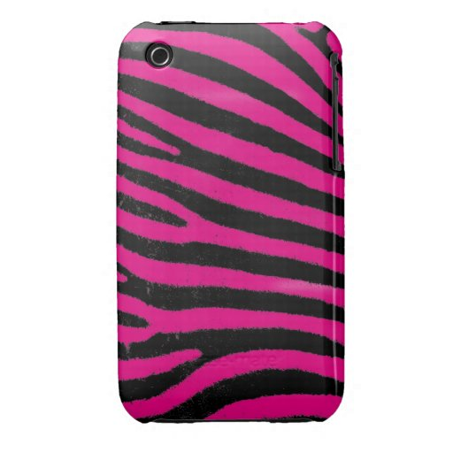 Pink Zebra iPhone 3G/3GS Case-Mate Barely There™ Case-Mate iPhone 3 Case