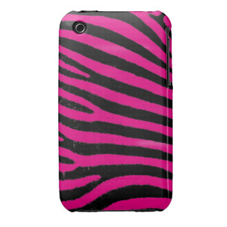 Pink Zebra iPhone 3G/3GS Case-Mate Barely There™ iPhone 3 Covers