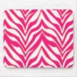 Pink Zebra Mouse Pad
