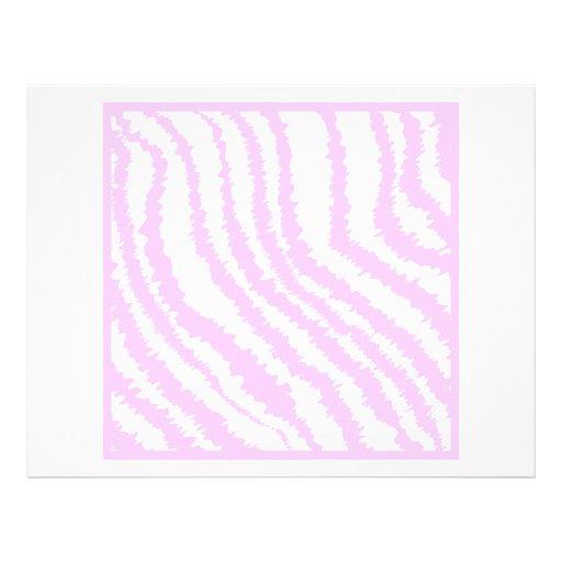 Pink Zebra Print, Animal Pattern. Flyer