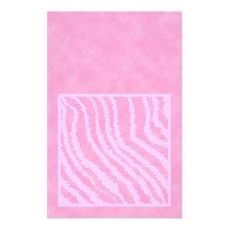 Pink Zebra Print Animal Pattern Flyers