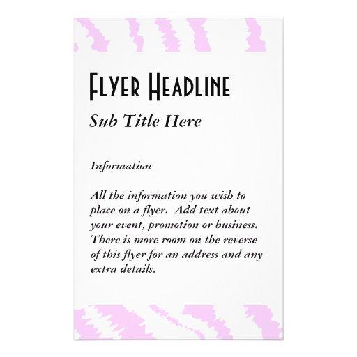 Pink Zebra Print, Animal Pattern. Flyers