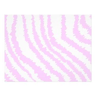 Pink Zebra Print Animal Pattern Flyer