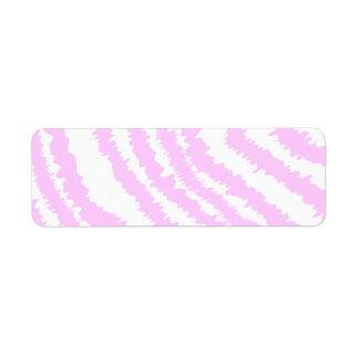 Pink Zebra Print, Animal Pattern. Return Address Label