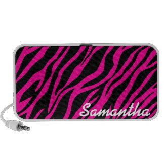 Pink Zebra Print Custom Doodle Speakers