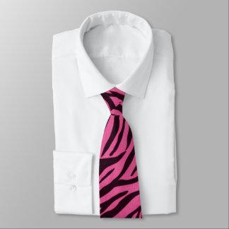Pink Zebra Print Fashion Tie