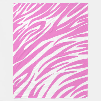 Pink Zebra Print Fleece Blanket