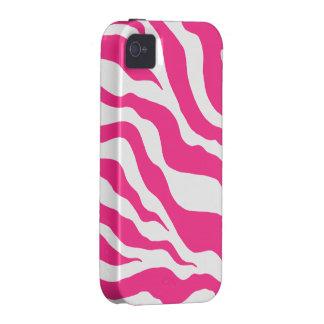 Pink Zebra Print iPhone 4 Case Mate