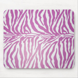 Pink zebra print shoes mouse pad