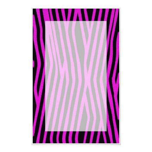 Pink Zebra Print Stationery