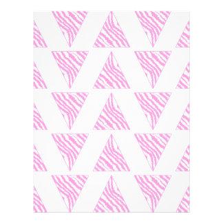 Pink Zebra Print Stripes, in Pattern of Triangles. Flyer
