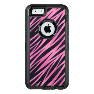 Pink Zebra Stripe Background OtterBox iPhone 6/6s Case