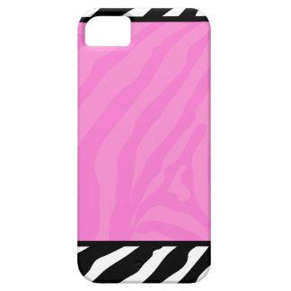 Pink Zebra Stripe Trendy iPhone 5 Case