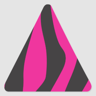 Pink zebra triangle sticker